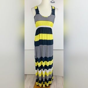 Cristina Love Striped Sleeveless Maxi Dress  3216